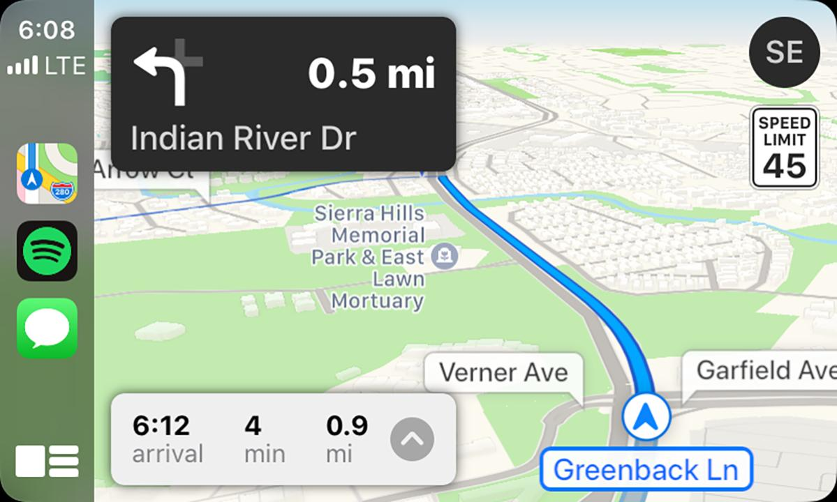 ios13 carplay maps