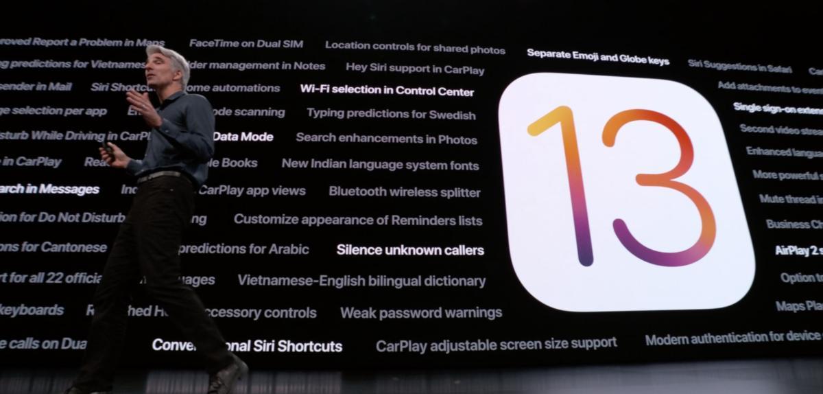 ios13 feature list