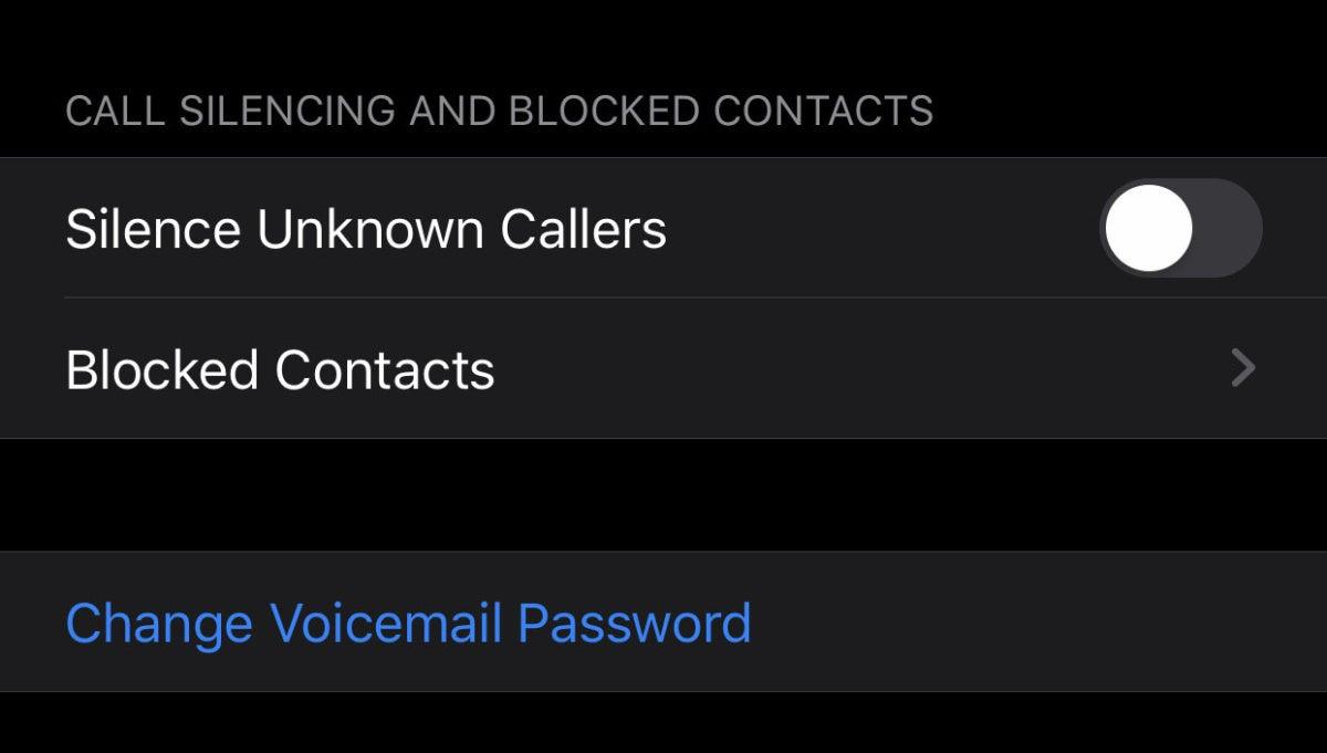ios13 silence callers