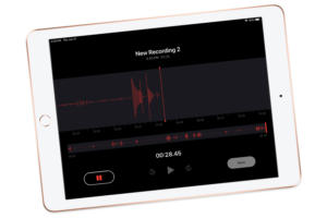ipad voice memo screen 2019