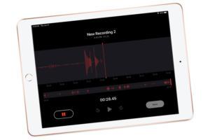 ipad voice memo screen 2019