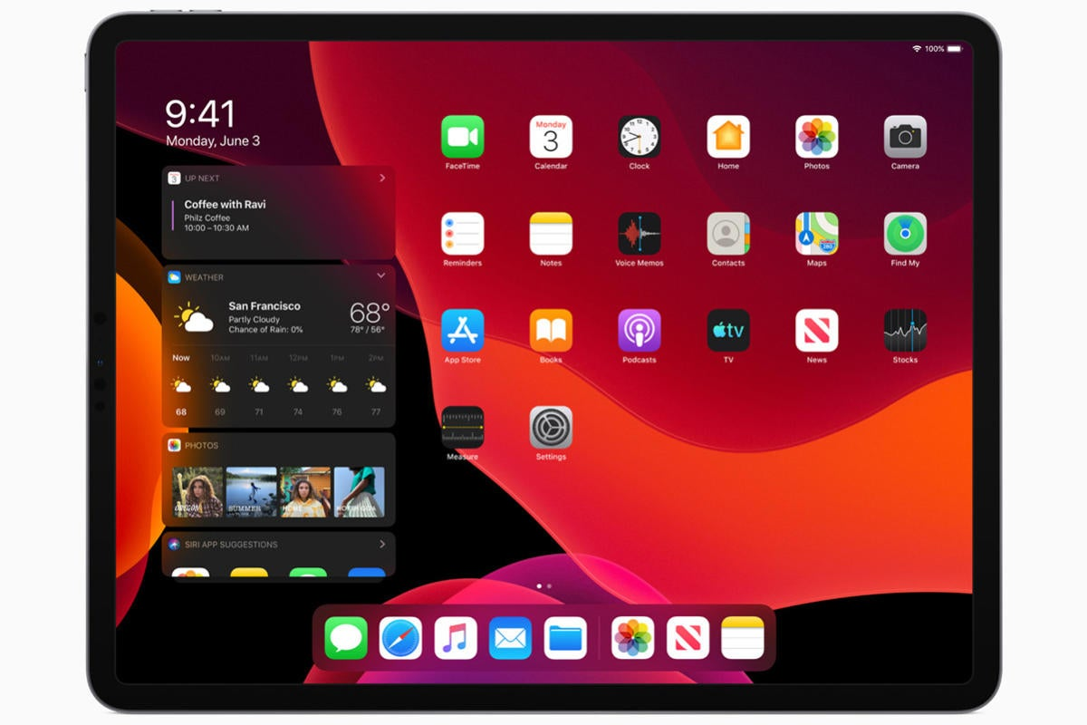 ipados home screen
