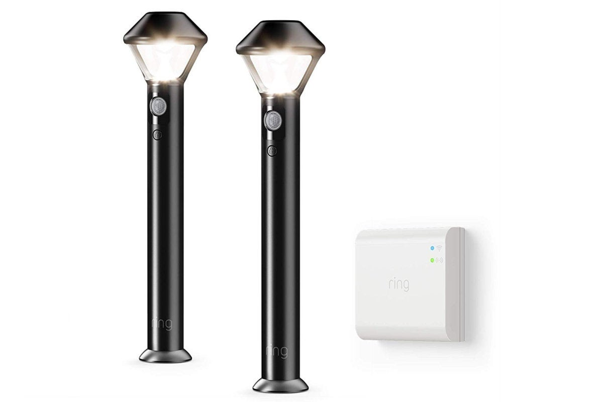 Ring Smart Lighting Pathlight Starter Kit Review Security Lighting On The Cheap Except For All Those Batteries Techhive