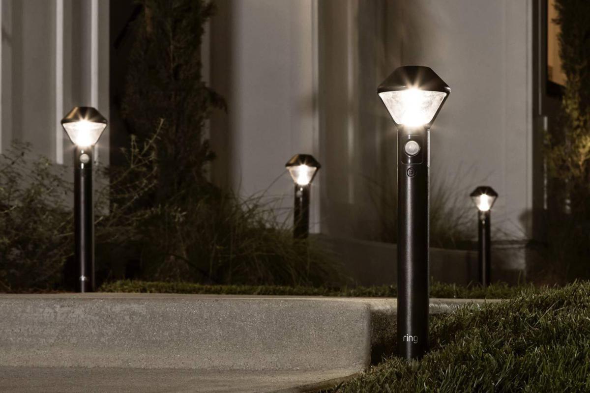 ring pathway light kit installed