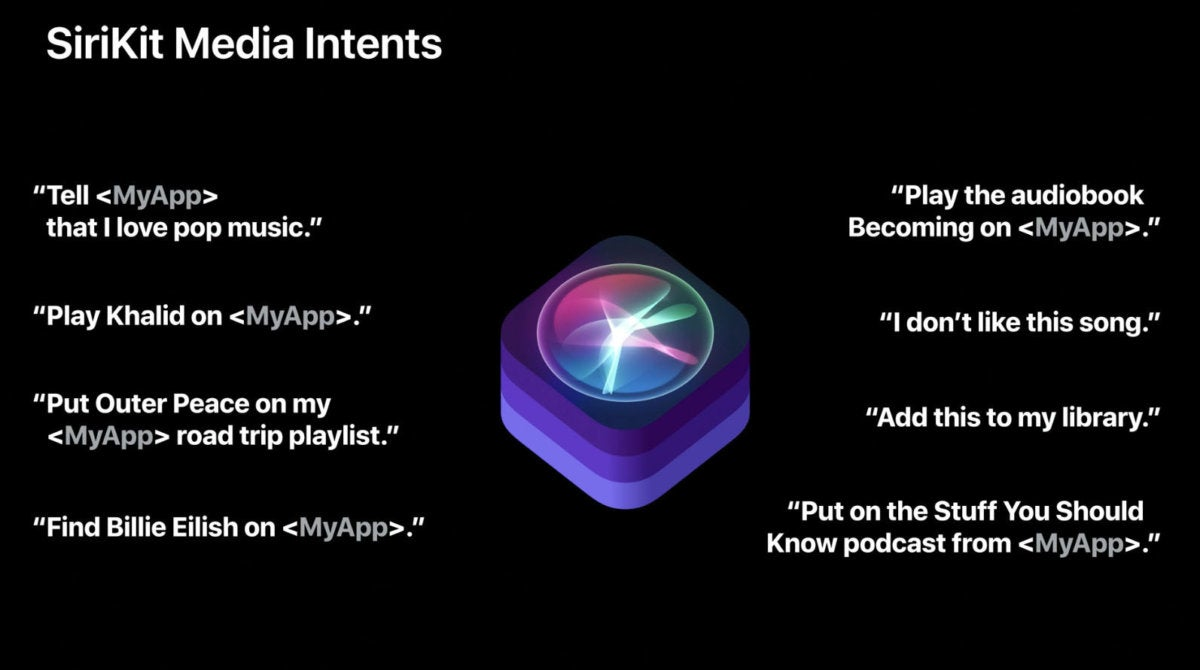 siri media commands