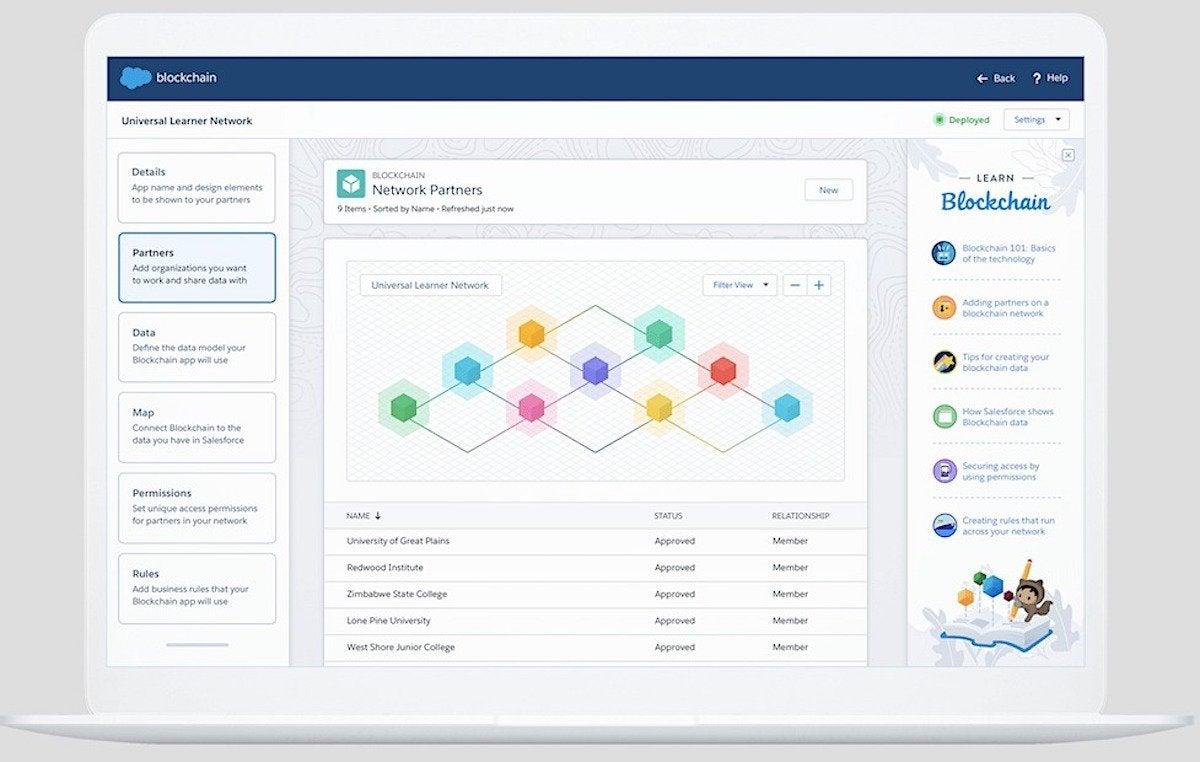 Salesforce's Blockchain UI