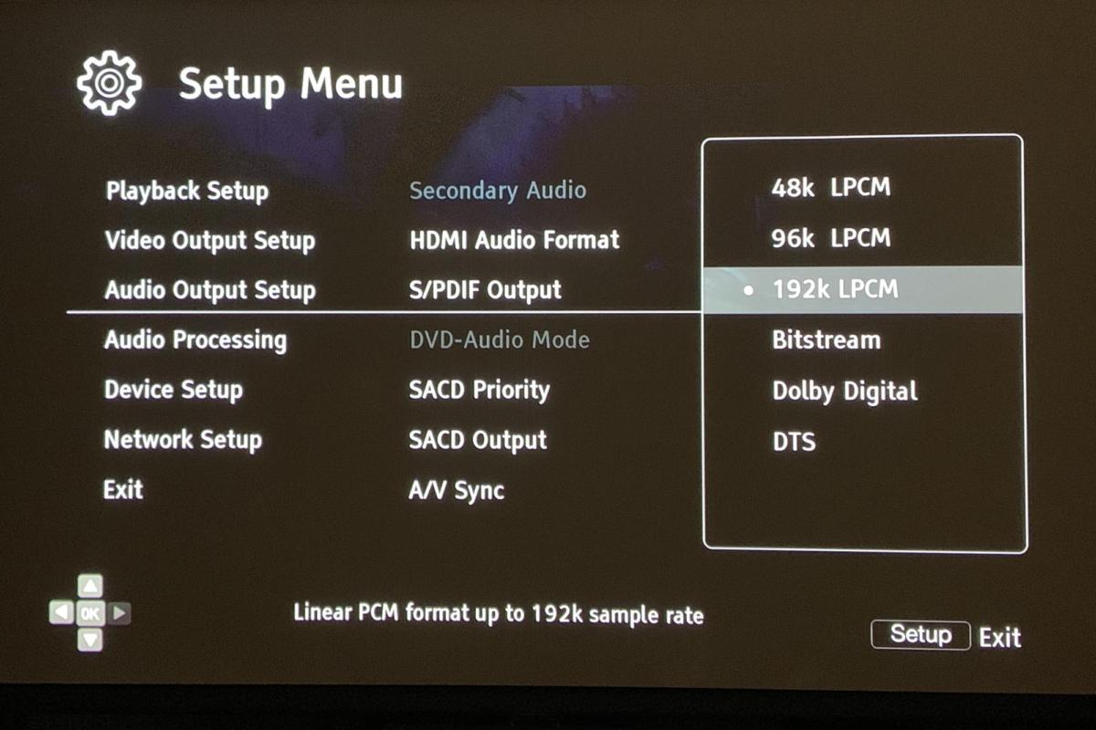 Vizio's SB2020 sound bar can only play audio sent as PCM. You must explicitly set your sources (like