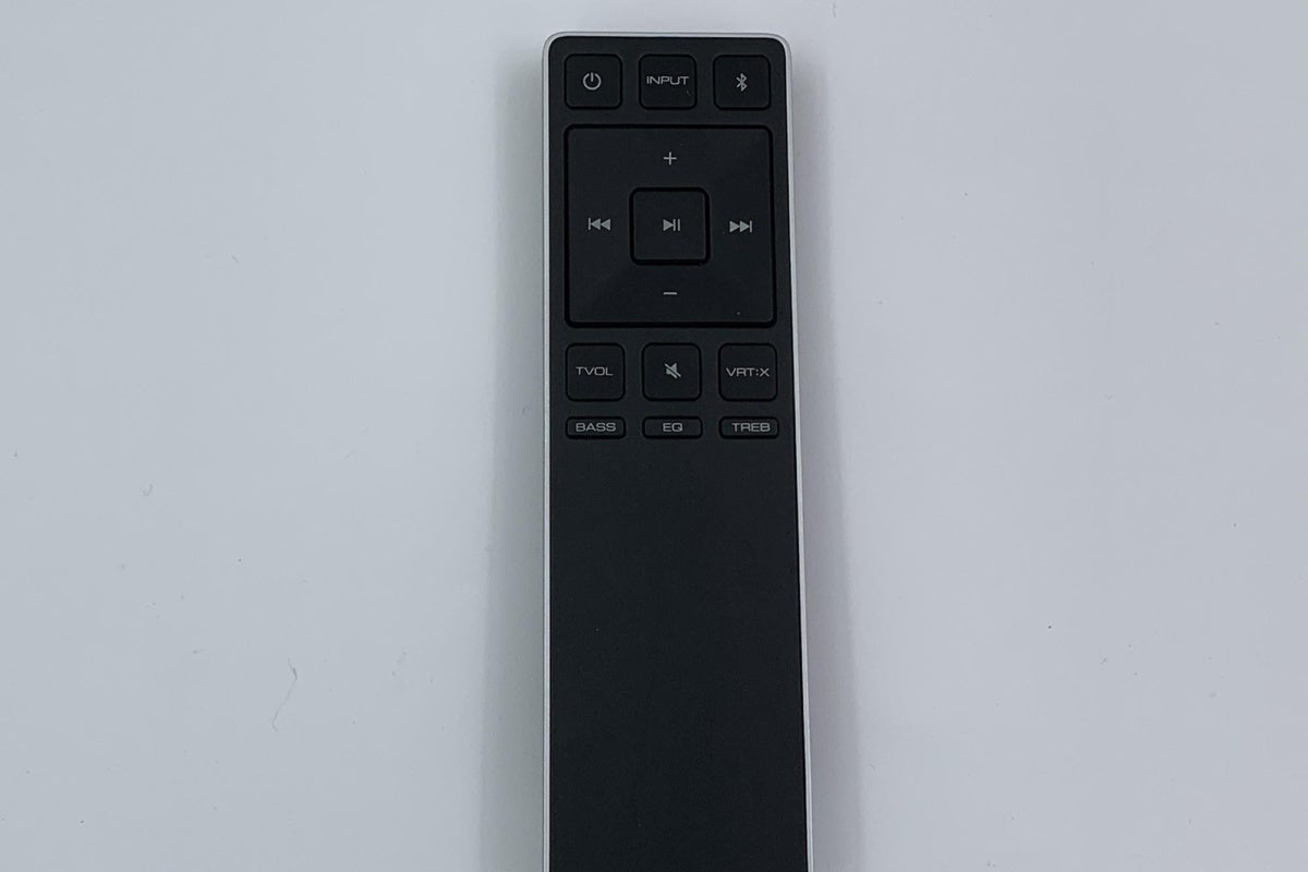 Unlike most sound bars under $200 that come with cheap, credit card styled remotes. Vizio's remote i