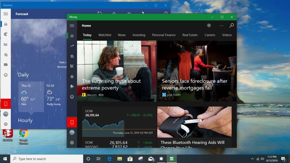 win10 windows apps v1903