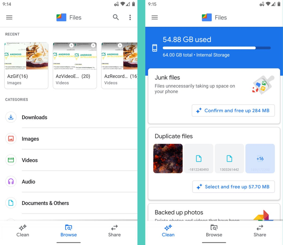 Google Apps Android: archivos