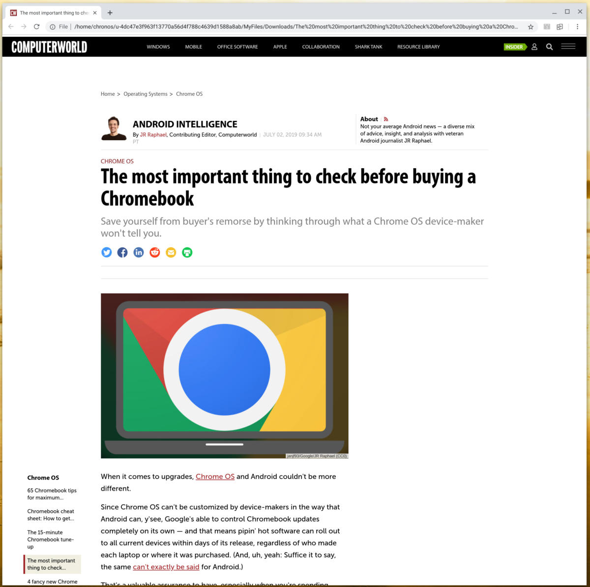 The smart worker's guide to using a Chromebook offline | Computerworld