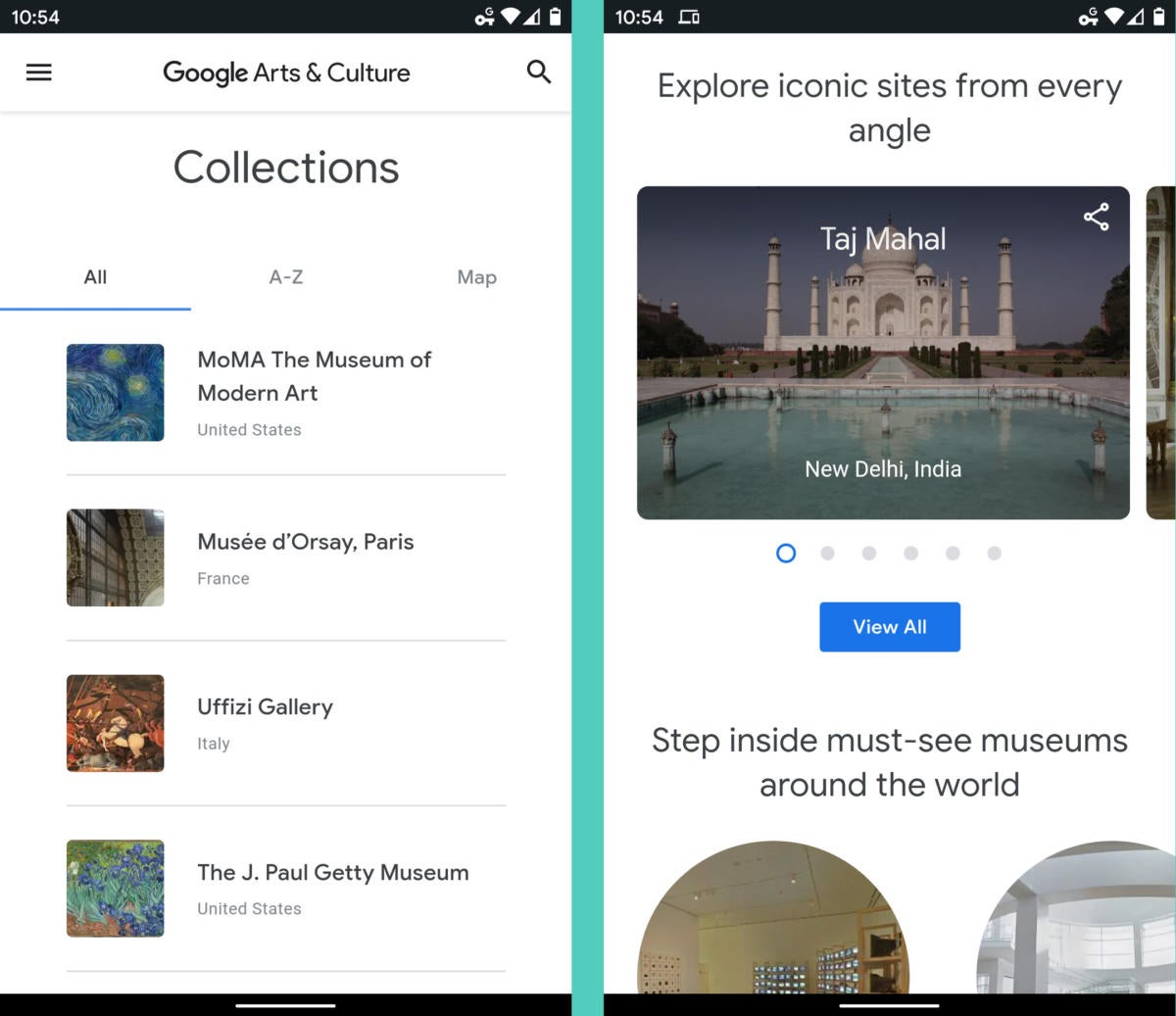 Google Apps Android - Arts and Culture