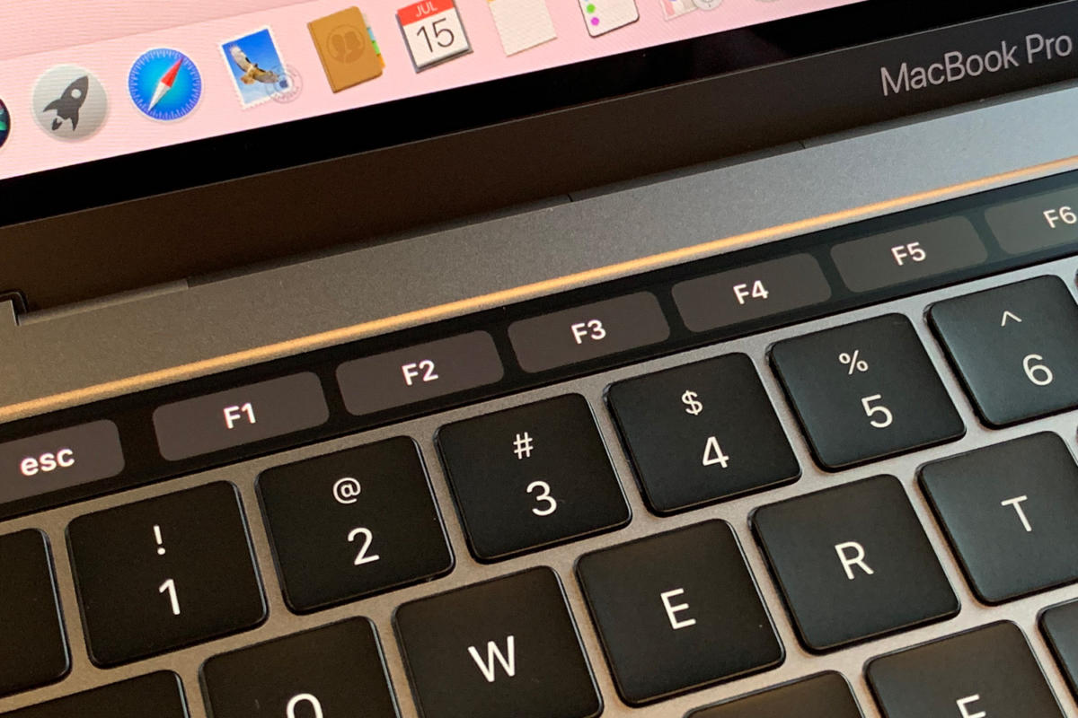 13in 2019 14ghz mbp touchbar function