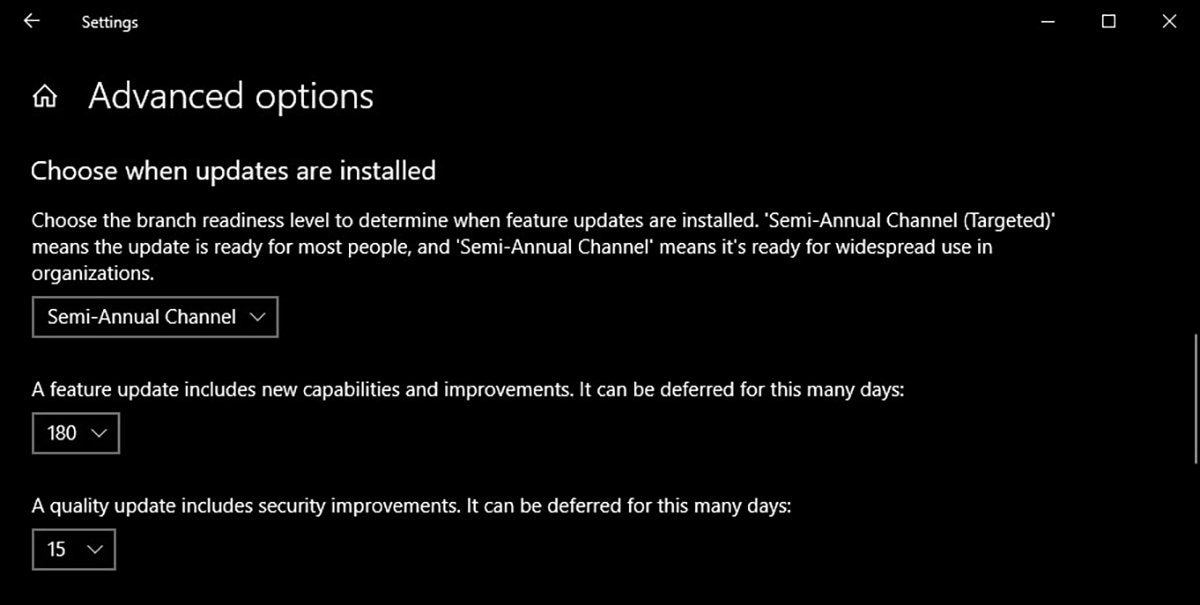 Windows 1809 feature update 180 days
