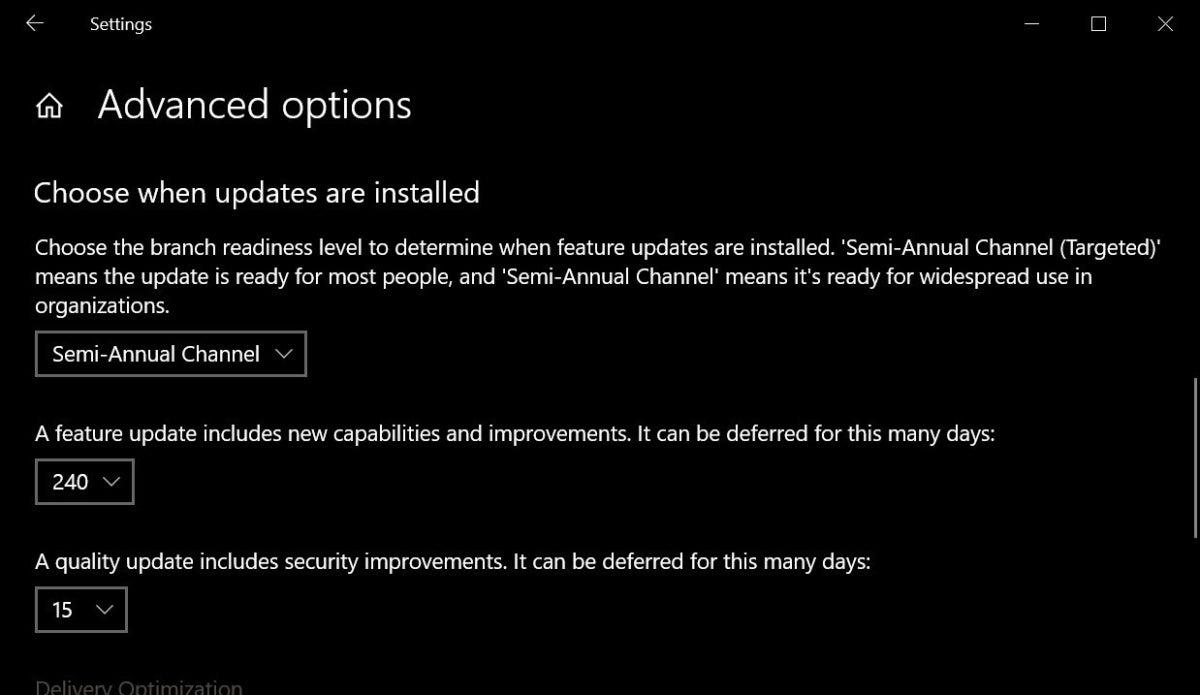 1809 feature update 240 days