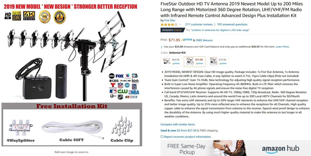 Cord-cutters beware: Amazon's TV antenna listings are rife