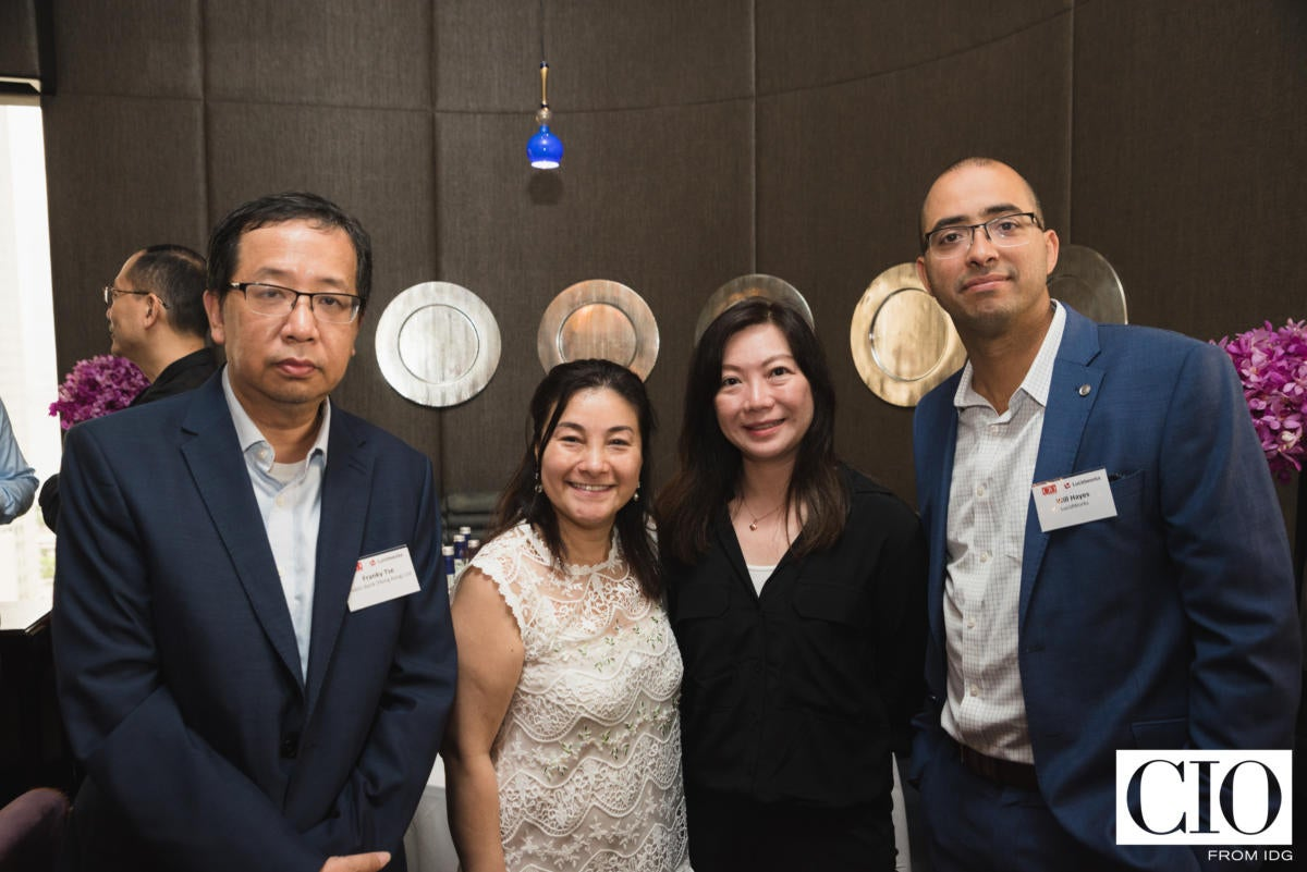 From left: Franky Tse, assistant GM and head of information technology, Public Bank; Akina Ho, head of digital transformation and innovation, The Great Eagle Company; Mabel Fung, marketing director, APJ and global emerging markets; and Will Hayes, CEO of Lucidworks.