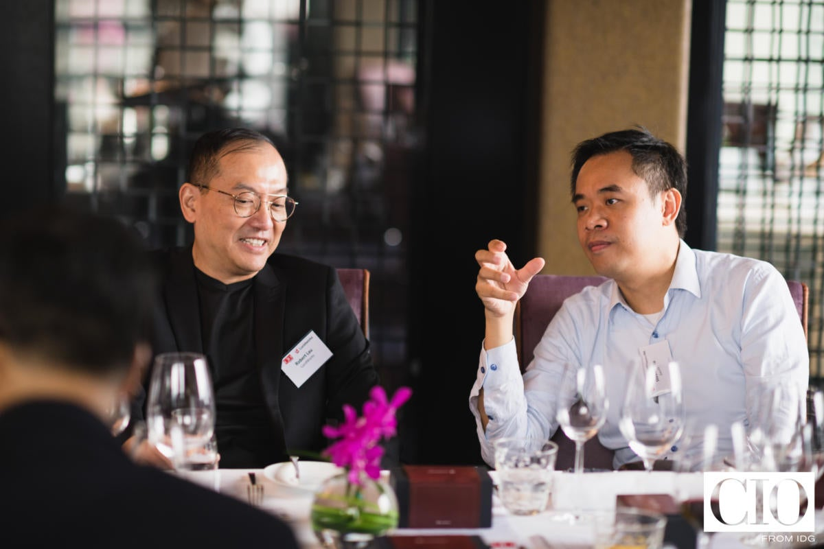 Robert Lau COO, APAC, of Lucidworks and Steven Au, head of infrastructure - Asia, information technology, at Savills.