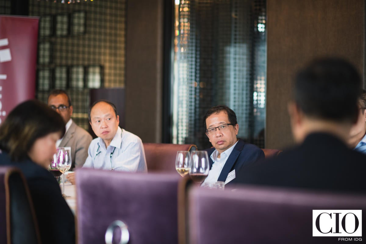Michael Chow,  managing director,  Provident Global Capital Group/Lavin Hall Associates and Franky Tse, assistant GM and head of information technology, Public Bank.