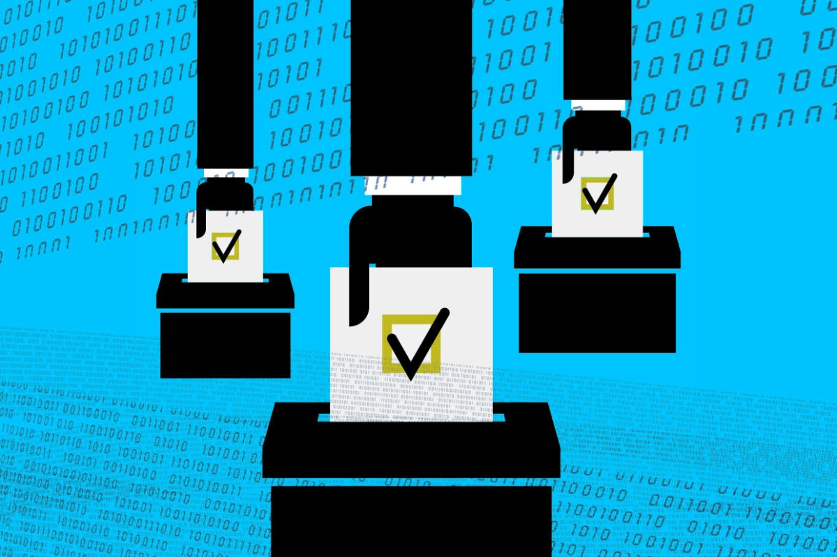 Election secuity / ballot boxes / binary code