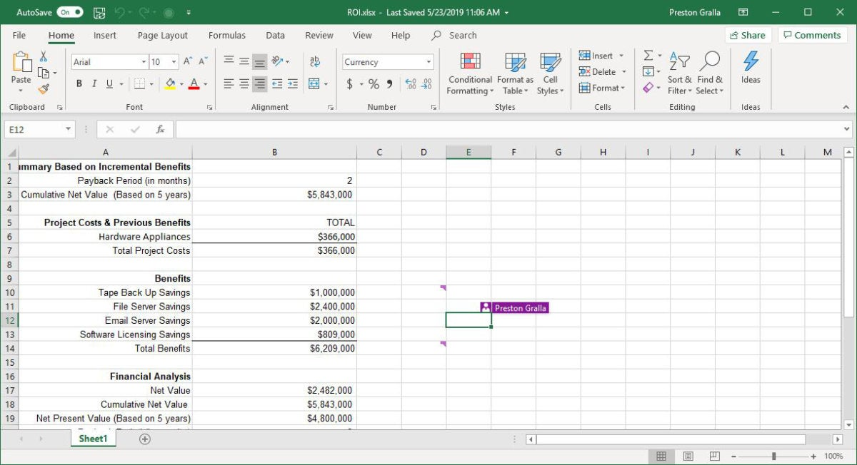 excel office365 collaboration