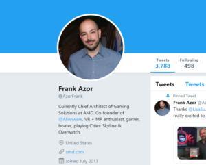 frank azor twitter