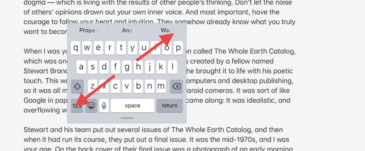 how to use floating keyboard ipados expand