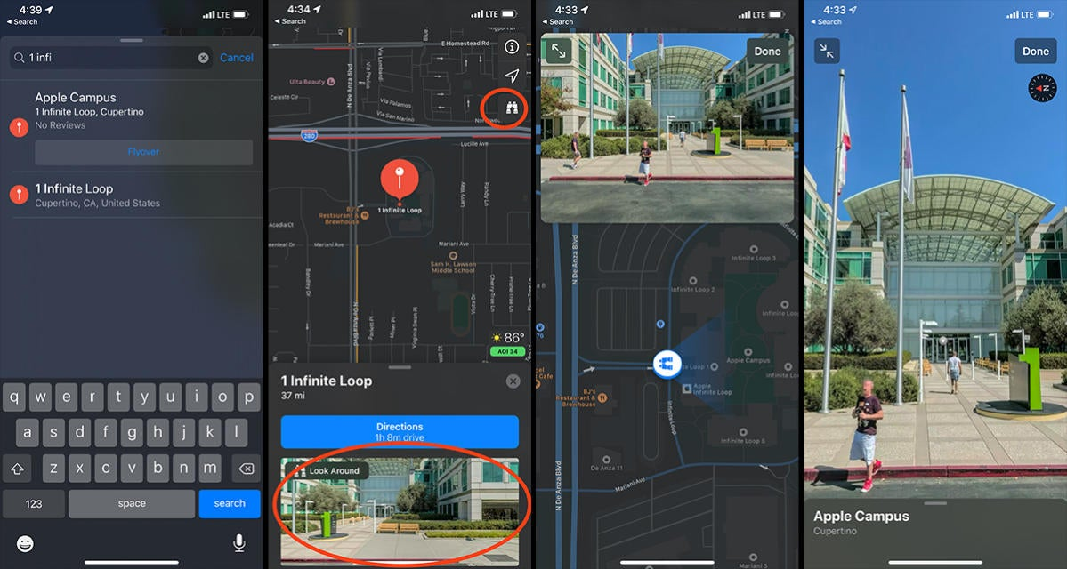 how to use look around ios