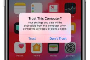 ios12 trust iphone x