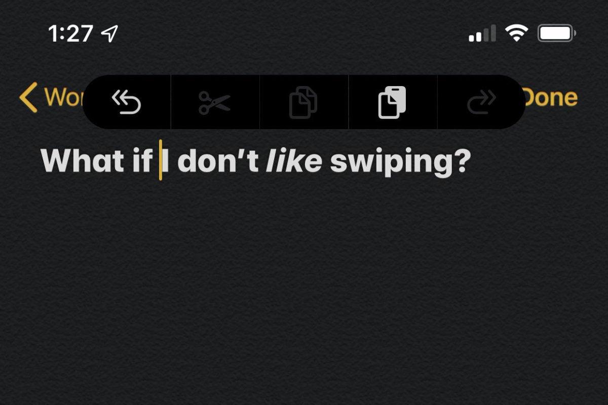 ios13 gestures shortcutbar