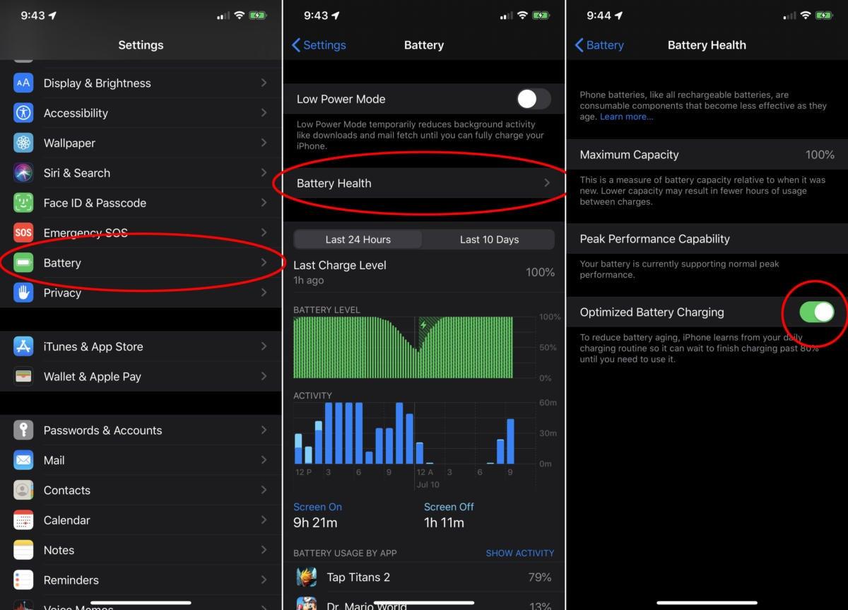 ios13 optimized battery