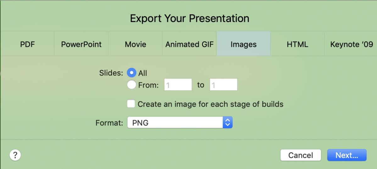 mac911 keynote export overlay