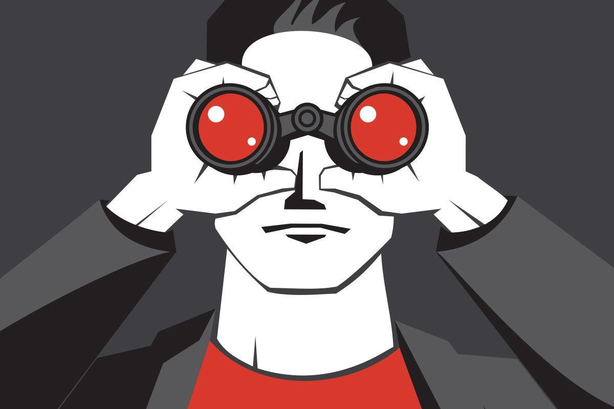 man with binoculars future it vision horizon by marvod getty