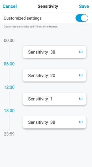 reolink e1 pro sensitivity