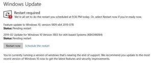 restart to update sb 2