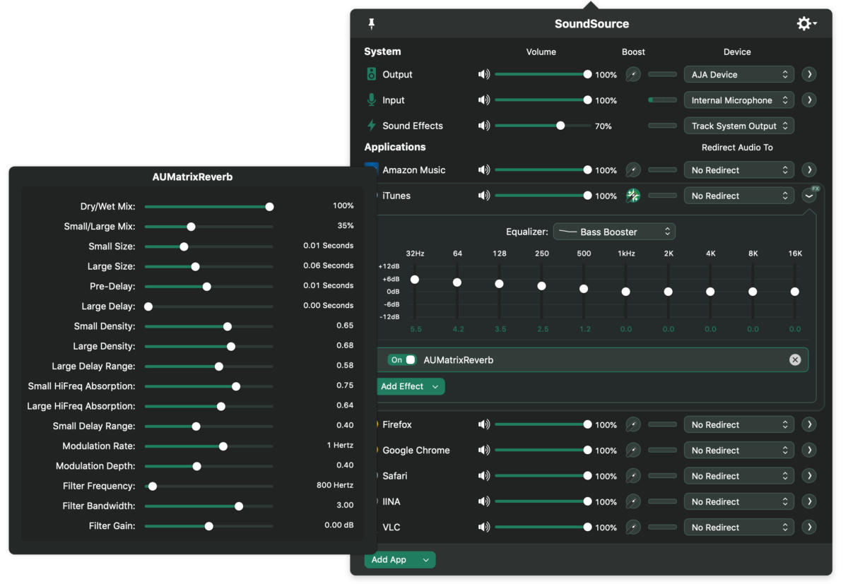 soundsource 4 itunes with eq and au effect