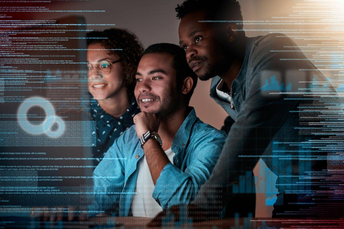 teamwork / collaboration / development / abstract data