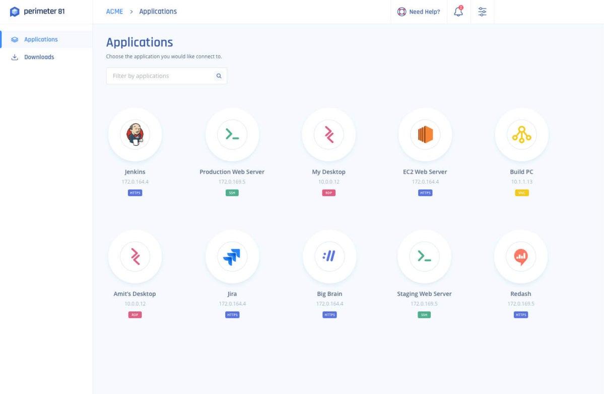Perimeter 81 Apps