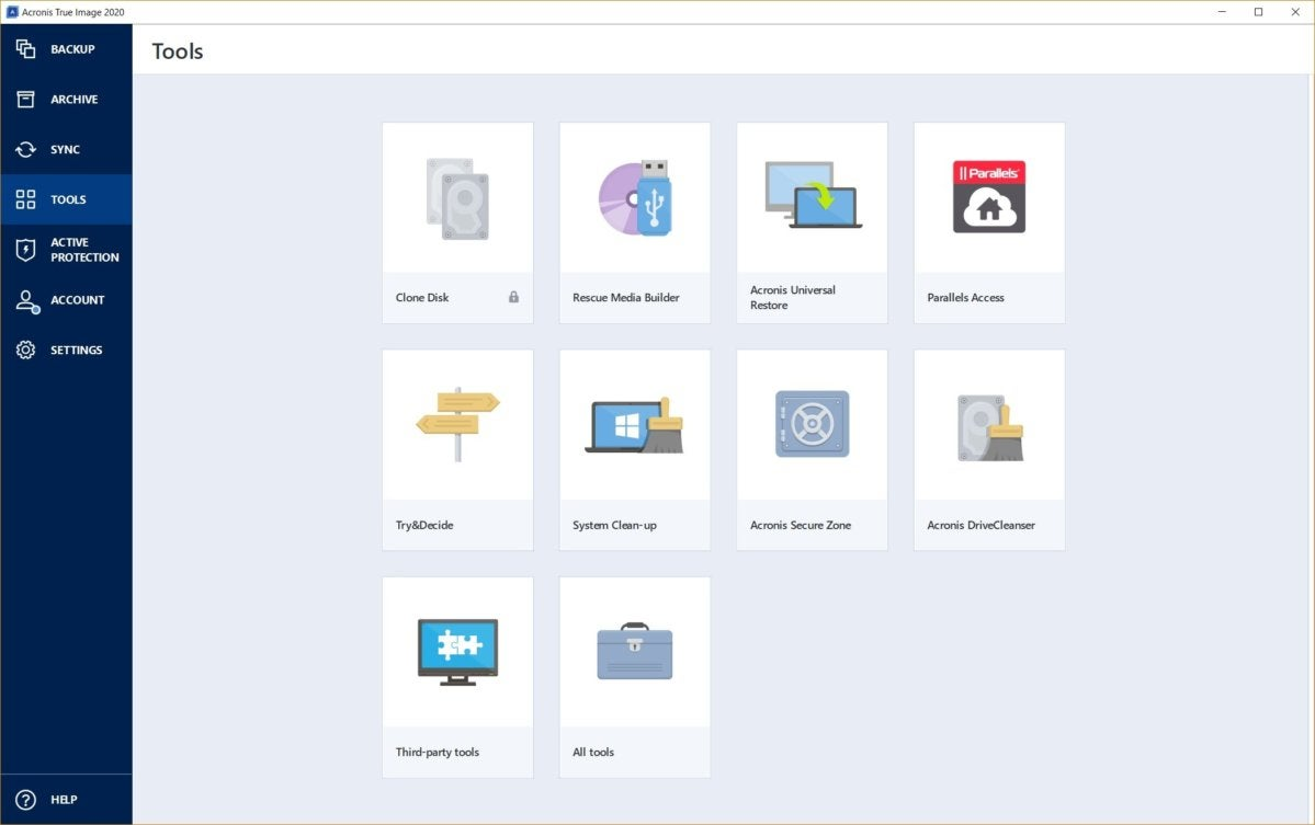 Acronis True Image 2020: One of the best backup programs
