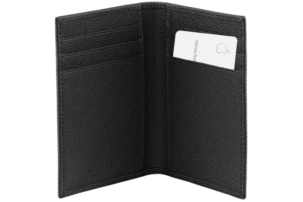 apple card leather wallet