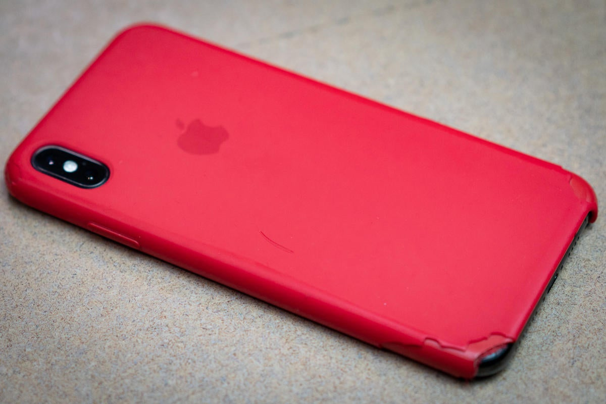 apple silicone case back