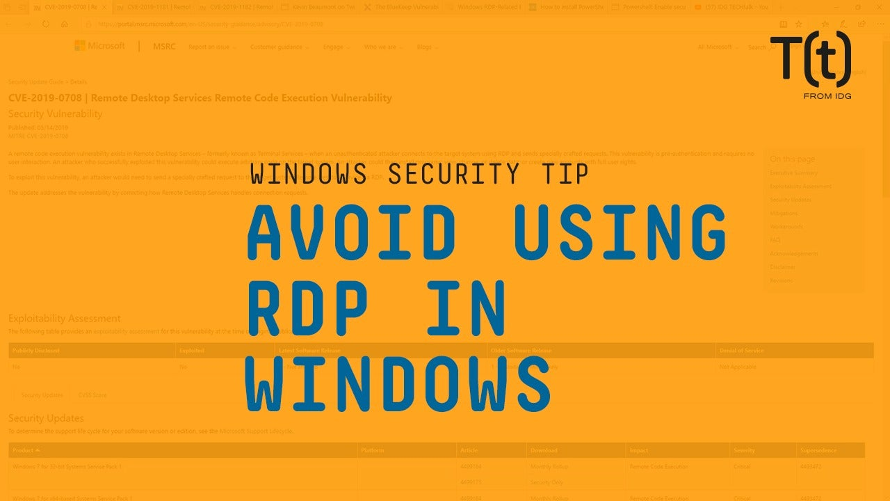 How to avoid using RDP in Windows | CSO Online