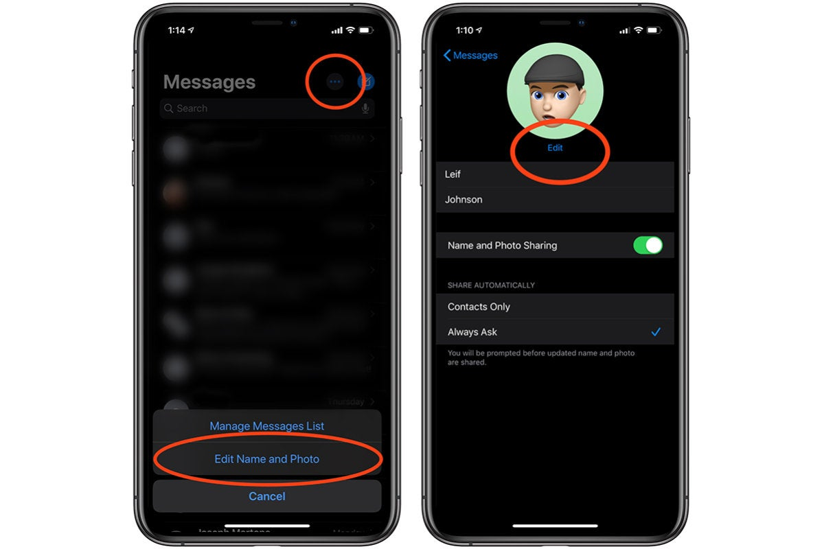 how to add a custom imessage profile 1
