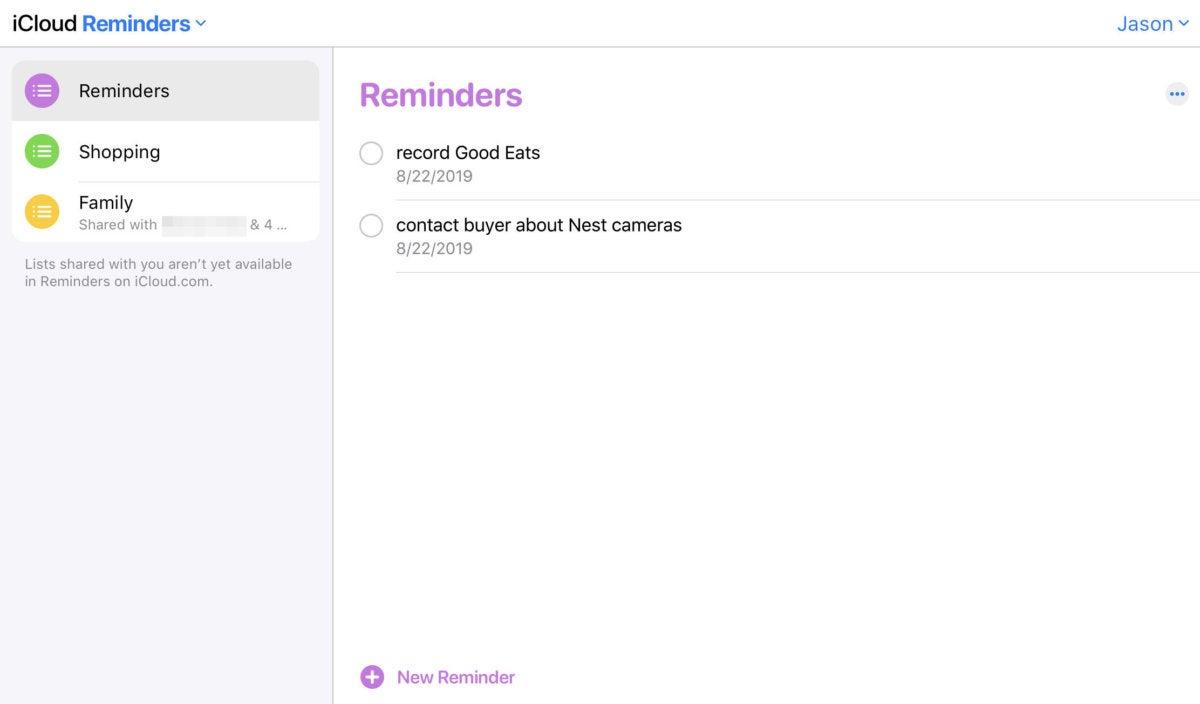 icloud beta reminders