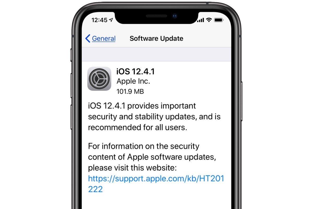 iOS 12.4.1 update now available