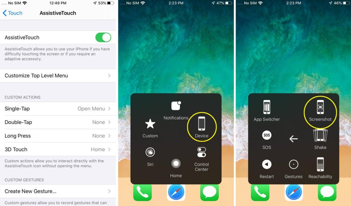 iphone screenshot assistivetouch