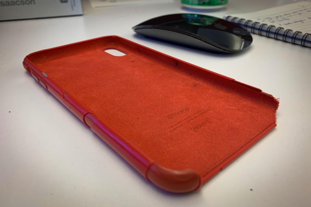 iphone xs max silicone case microfiber
