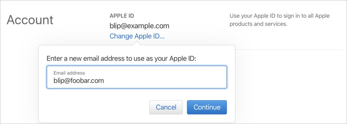 mac911 apple id email change