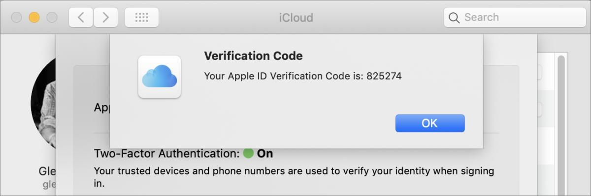 mac911 generate verification code macos