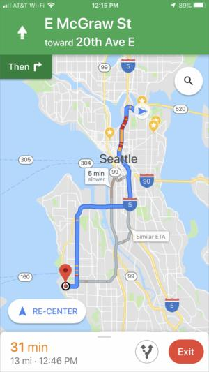 How to use Google Maps' re-routing option on the iPhone ... Maps With Routes on map with path, map with altitude, map with stops, map with water, map with home, map with size, map with cross, map with zone, map with highway, map with comp, map with line, map with trail, map with island, map with time, map with traffic, map with travel, map with construction, map with mountain, map with top, map with label,